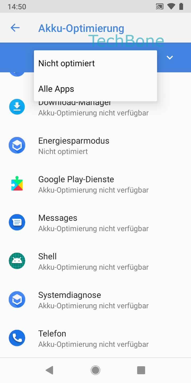 Schritt 7: WähleAlle Apps