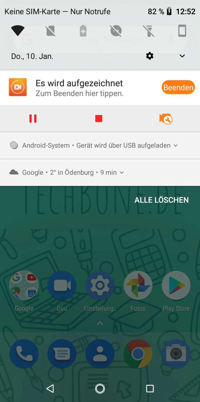 Schritt 2: Tippe auf Android-System