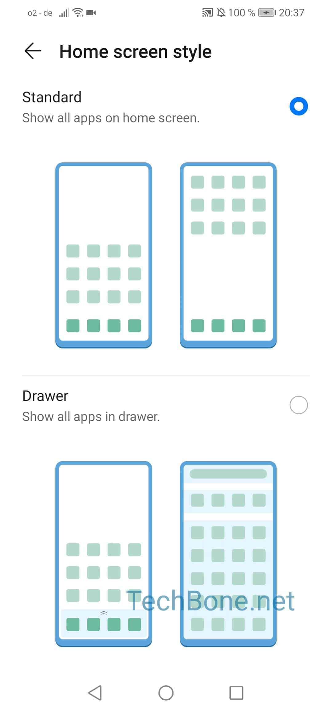 Step 4: Choose Standard or Drawer