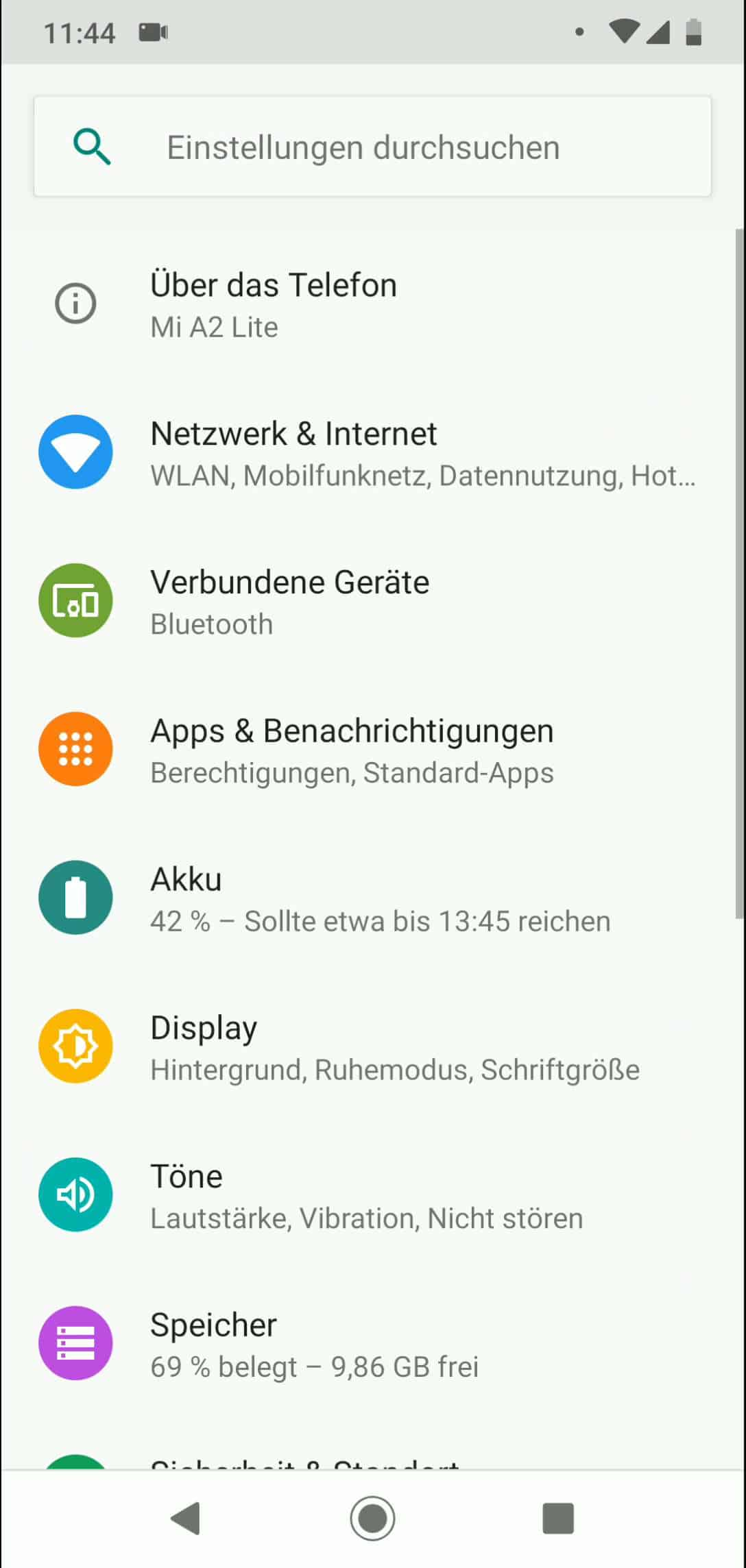 AKKU IN PROZENT ANDROID