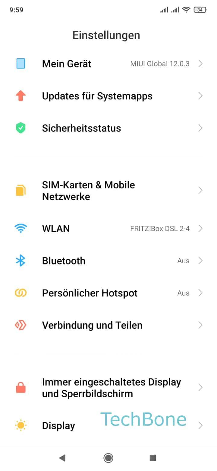 Schritt 2: Tippe auf SIM-Karten & Mobile Netzwerke