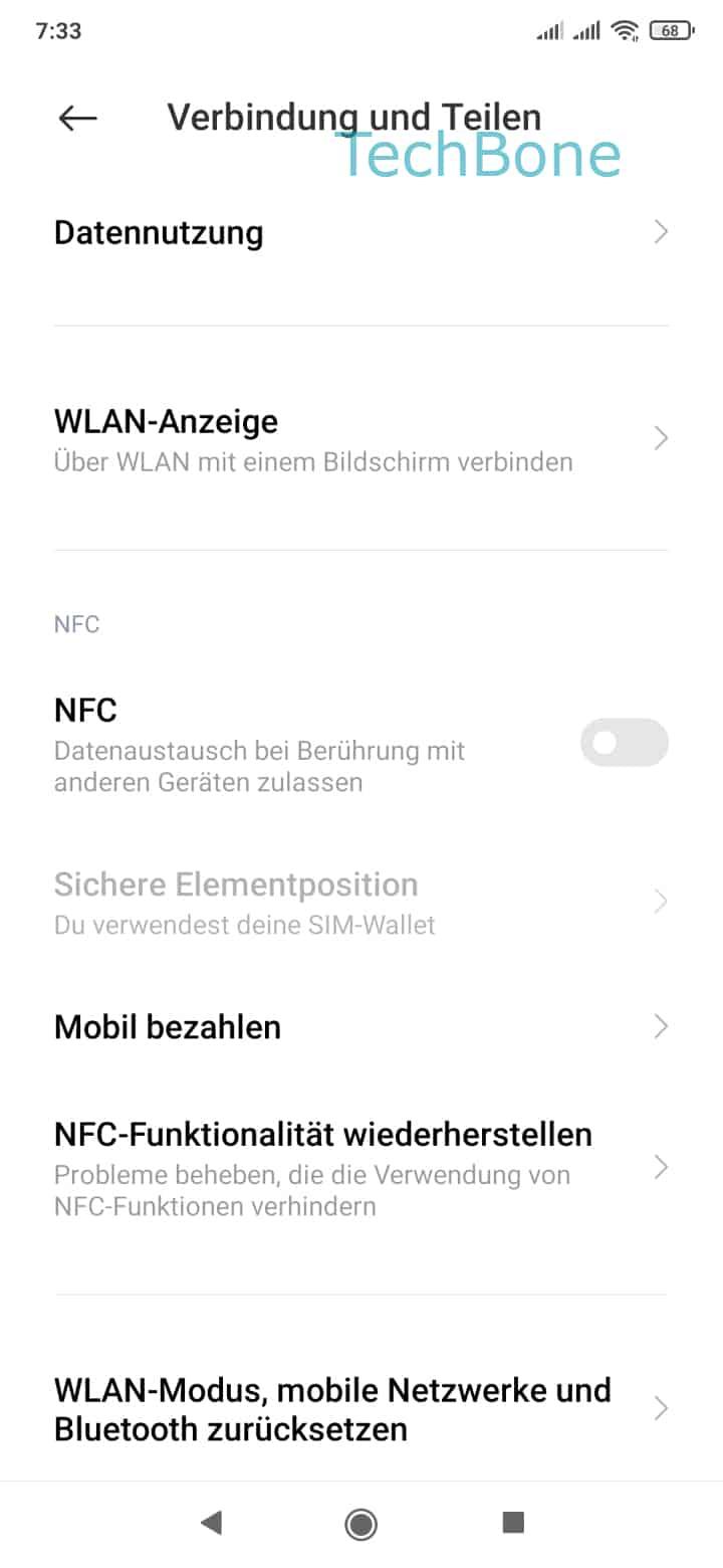 Schritt 3: Tippe auf WLAN-Modus, mobile Netzwerke und Bluetooth zurücksetzen