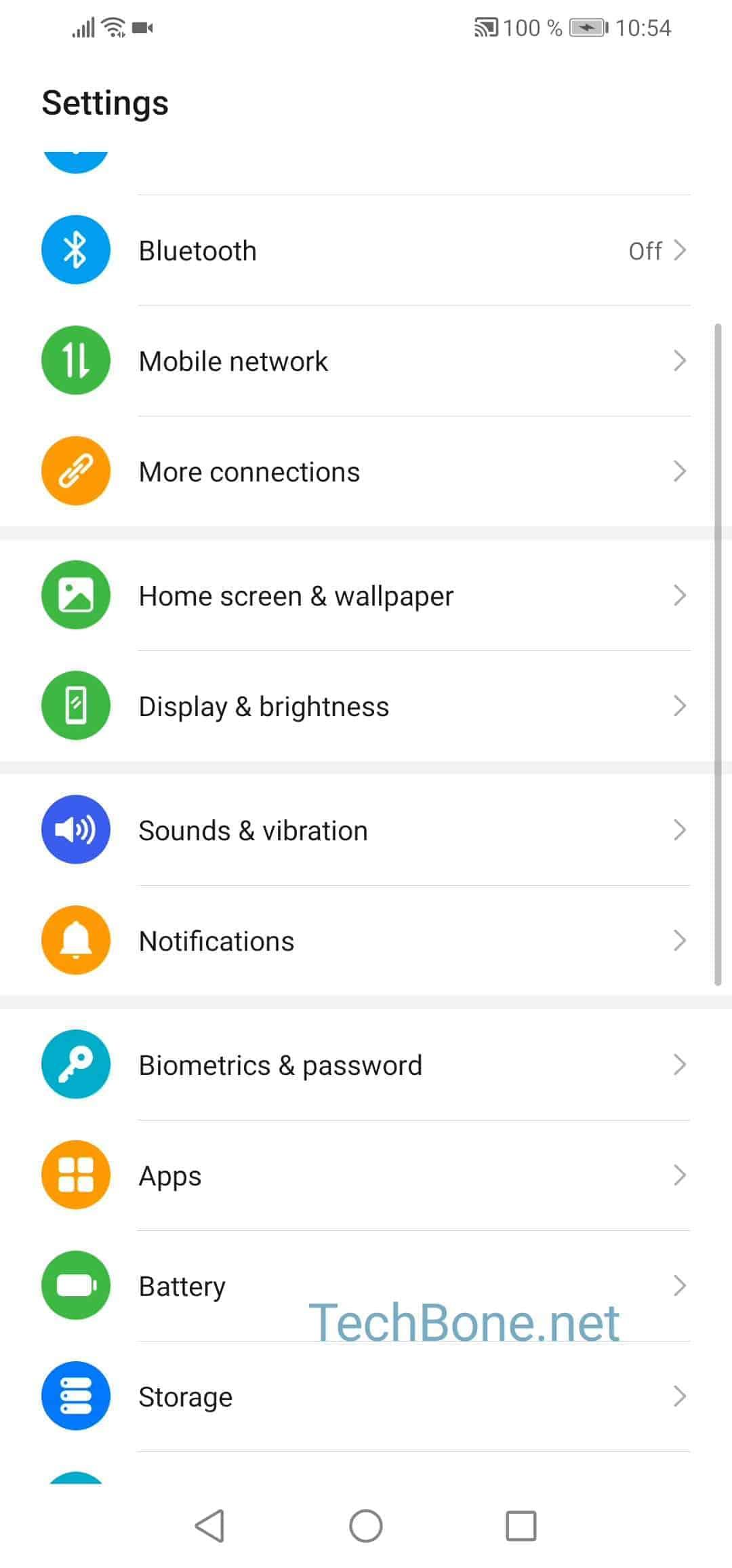 Step 2: Tap on Biometric & password