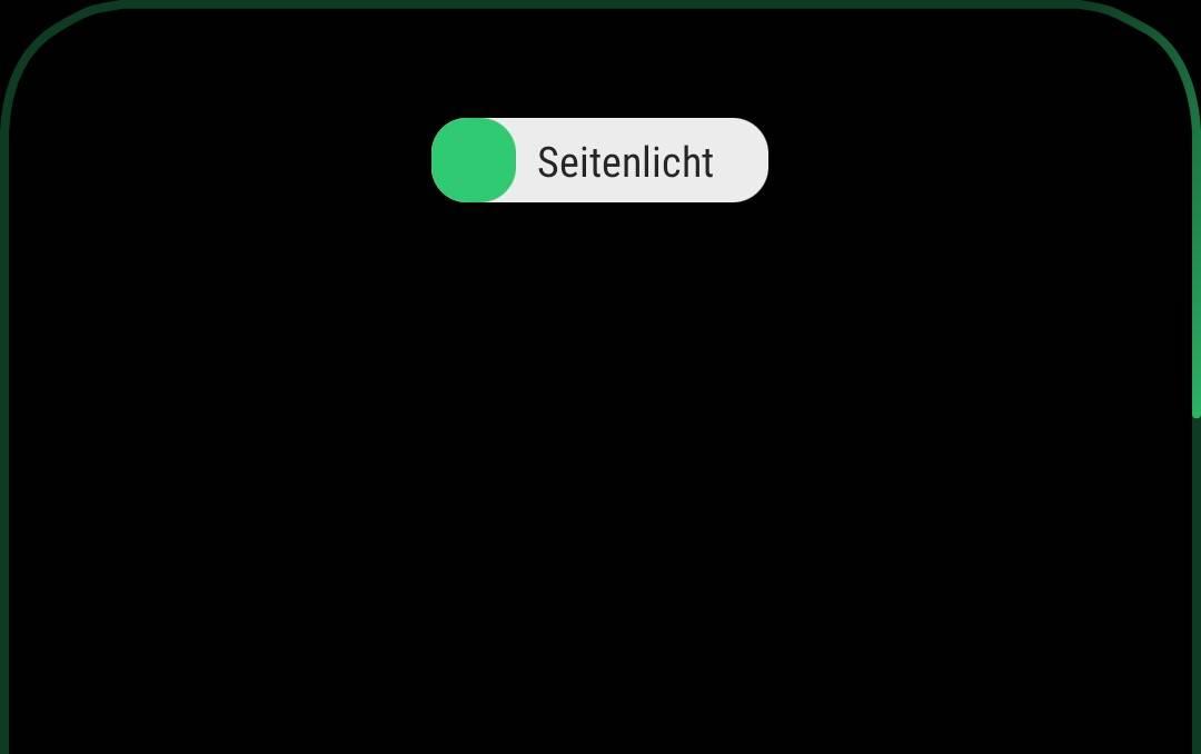 Das Seitenlicht von Samsung