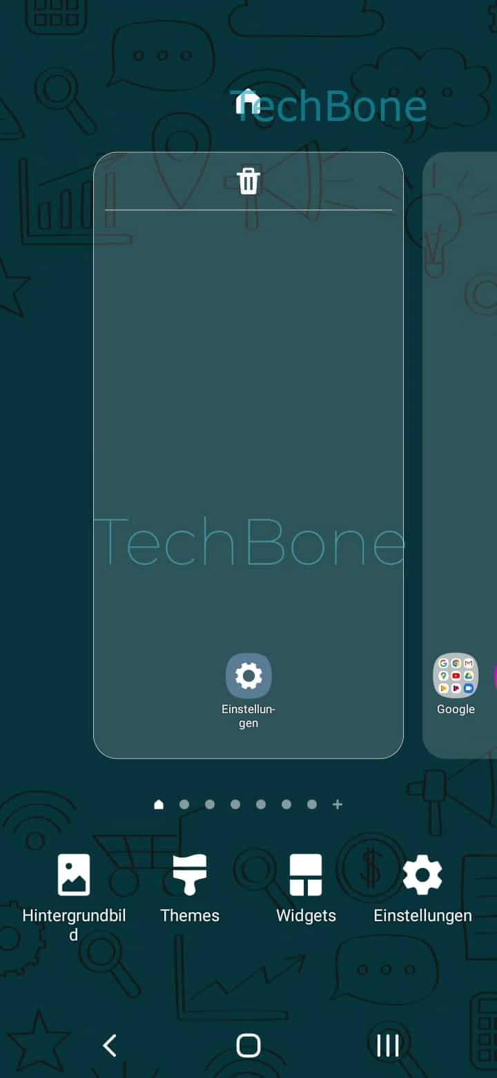Schritt 2: Tippe auf Widgets