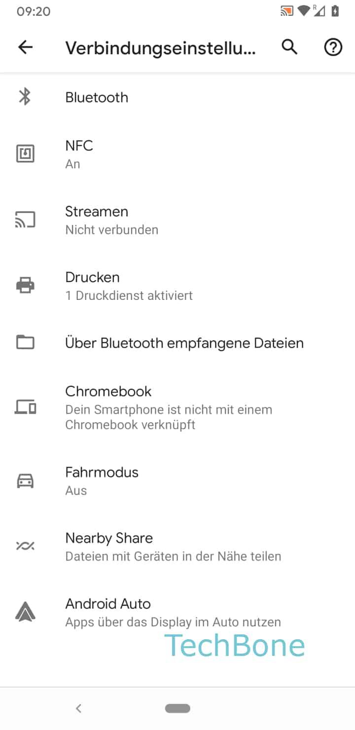 Schritt 4: Tippe auf Bluetooth