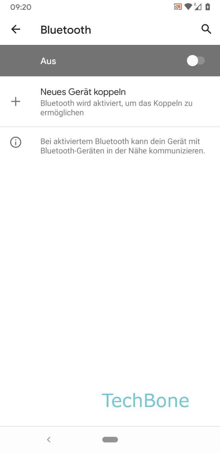 Schritt 5: Aktiviere oder Deaktiviere Bluetooth