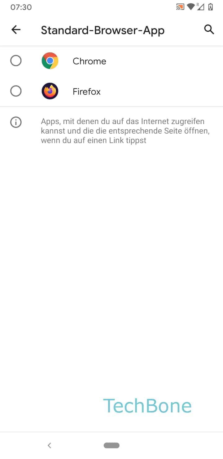 Schritt 6: Wähle die gewünschte Browser-App