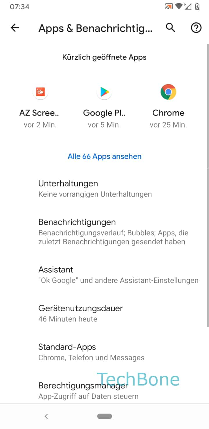 Schritt 4: Tippe auf Standard-Apps