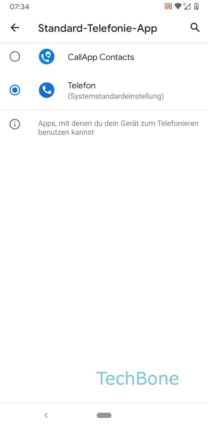Schritt 6: Wähle die gewünschte Telefonie-App