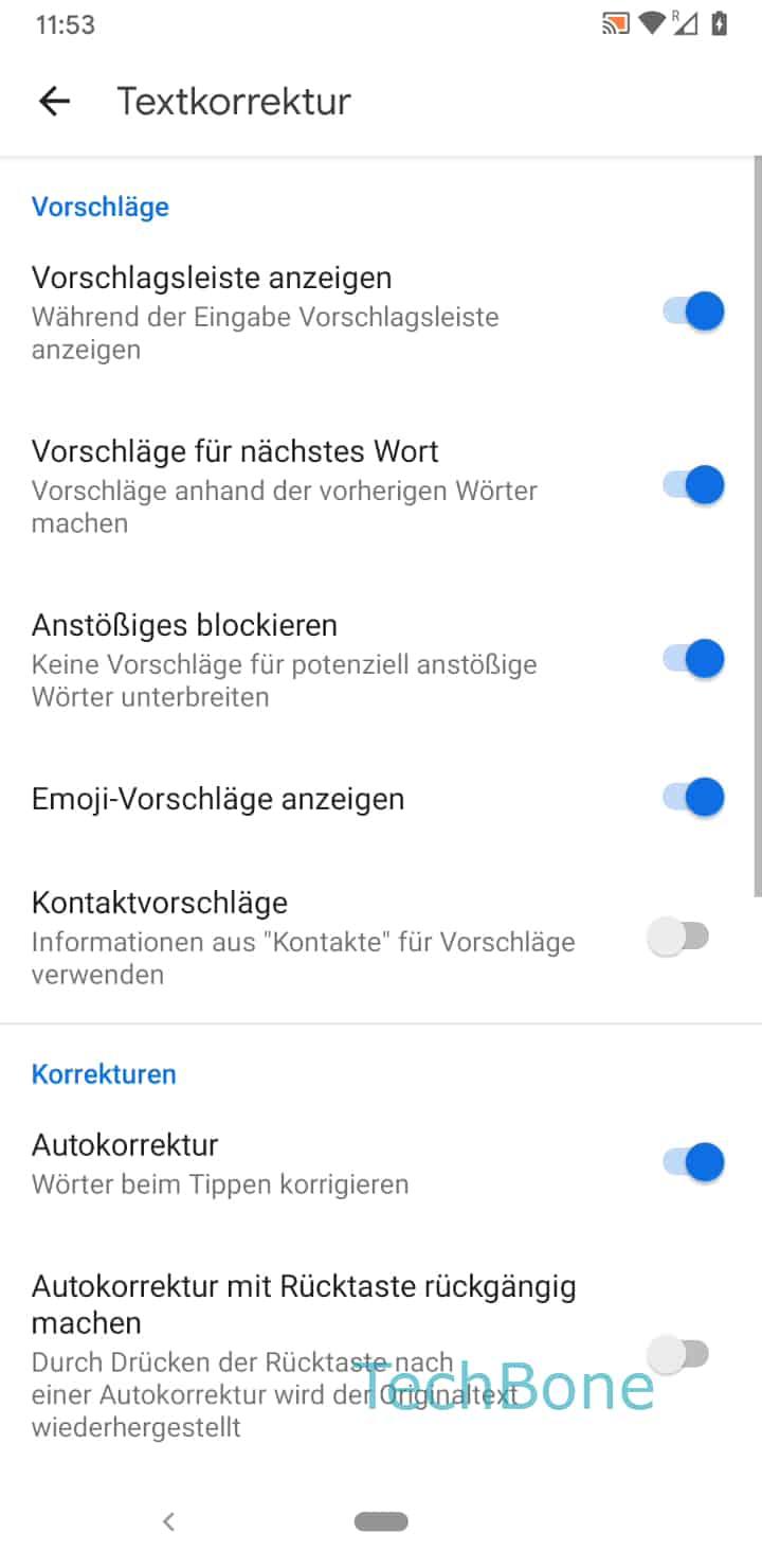 Schritt 7: Aktiviere oder Deaktiviere Emoji-Vorschläge anzeigen