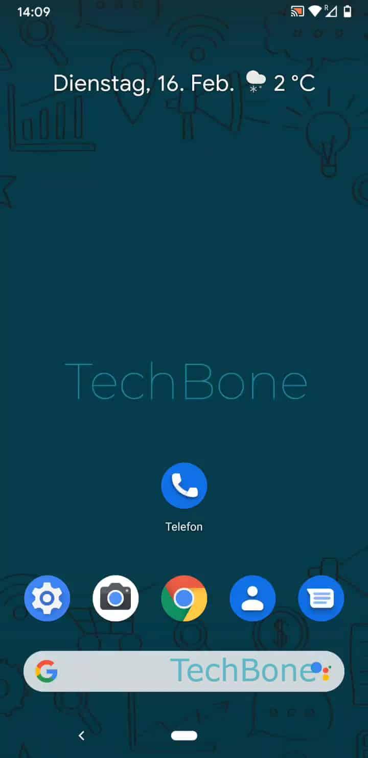 Schritt 1: Öffne die Telefon-App
