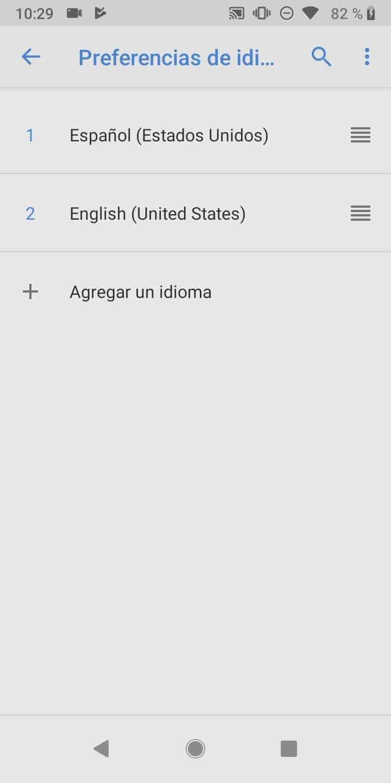 Paso 5: presiona Agregar un idioma