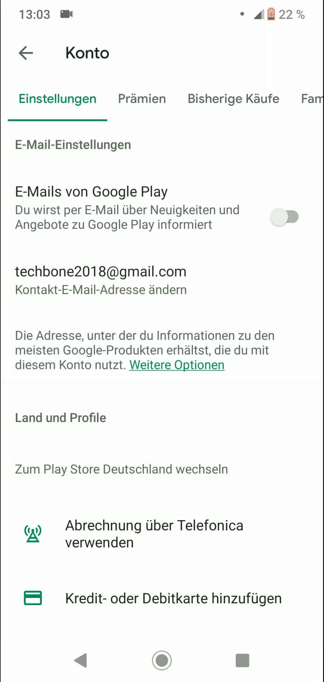 Schritt 3: Aktiviere oder deaktiviere E-Mails von Google Play