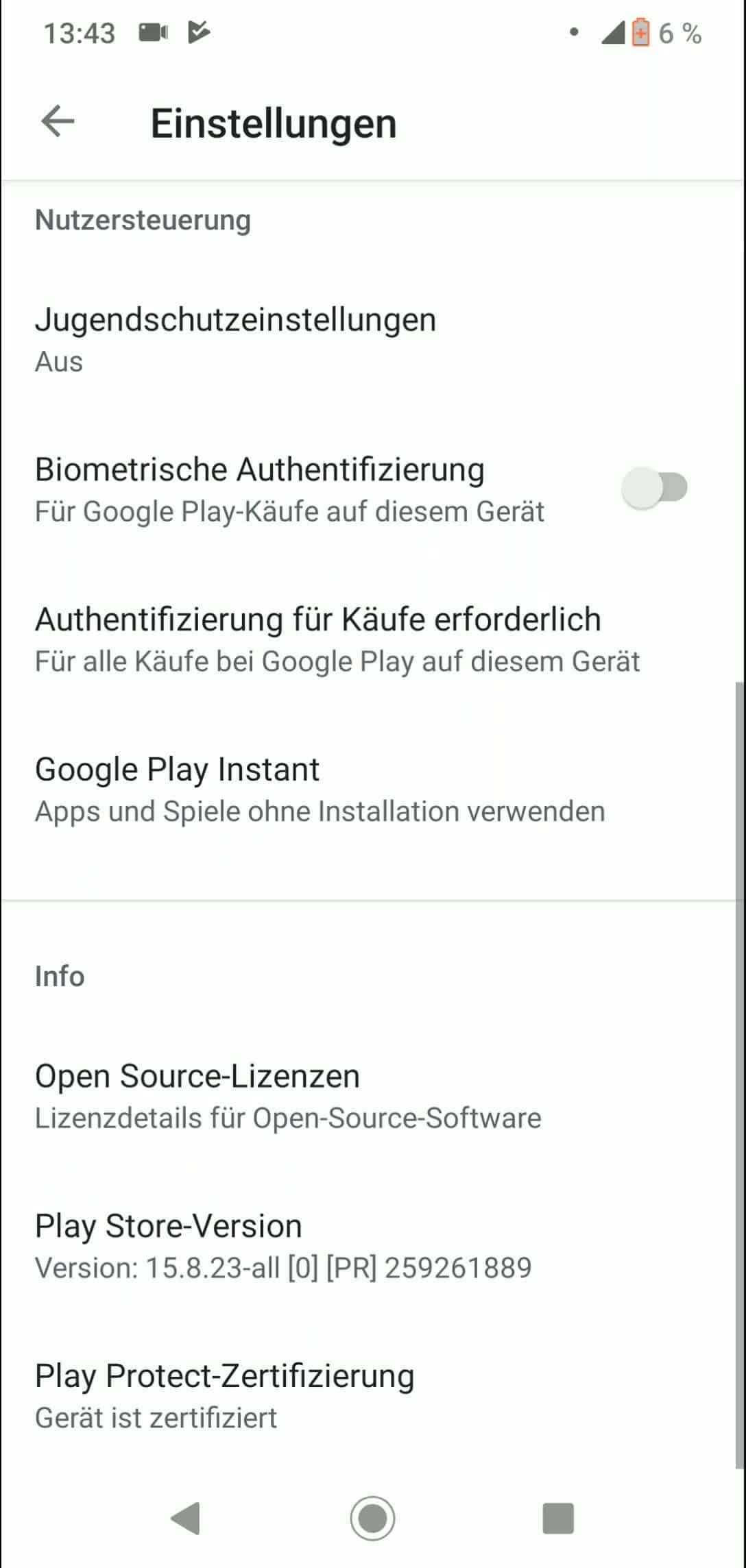 Schritt 3: Tippe auf Google Play Instant