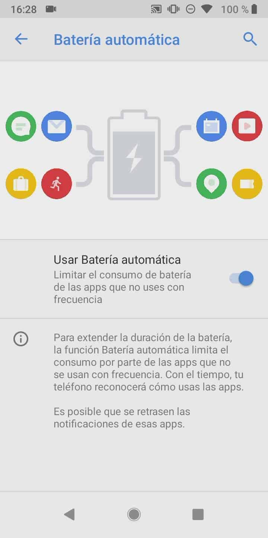 Paso 4: activa o desactiva Usar Batería automática