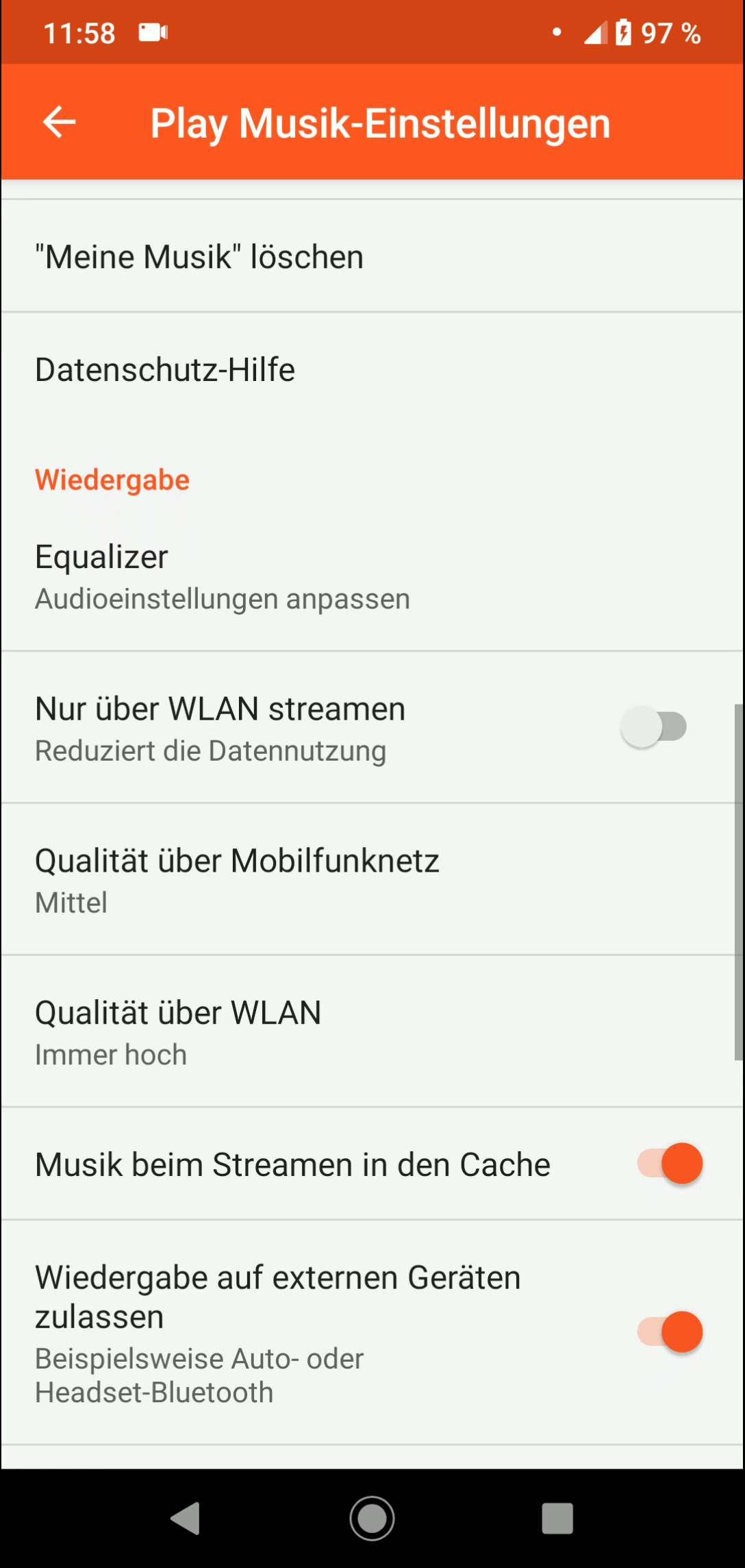 Schritt 3: Tippe auf Qualität über WLAN