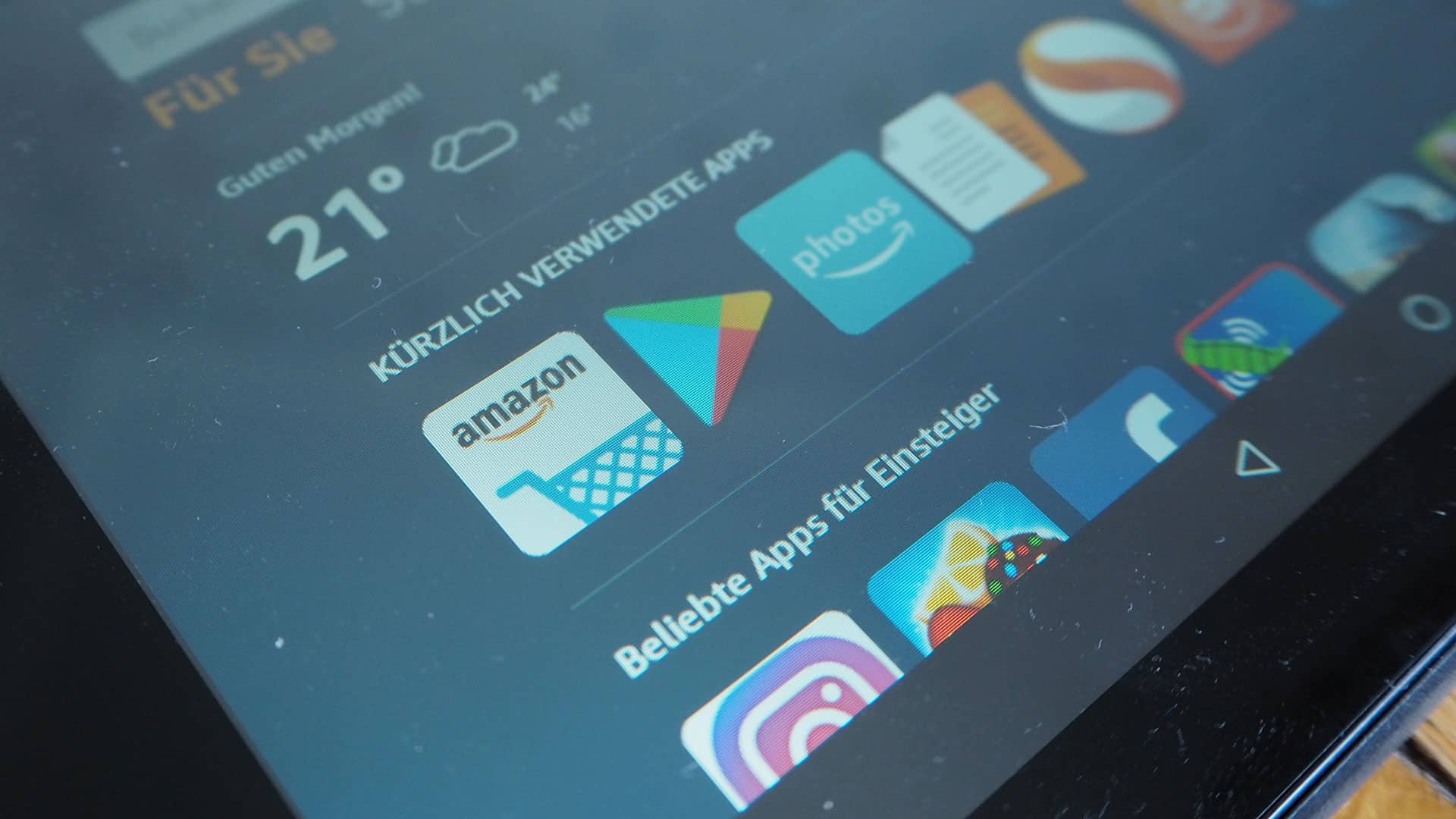 Google Play Store auf dem Amazon Fire-Tablet installieren