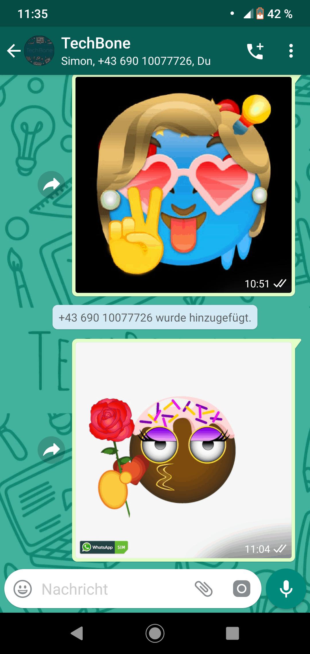 Oops hier sollte ein WhatsApp Screenshot zu sehen sein