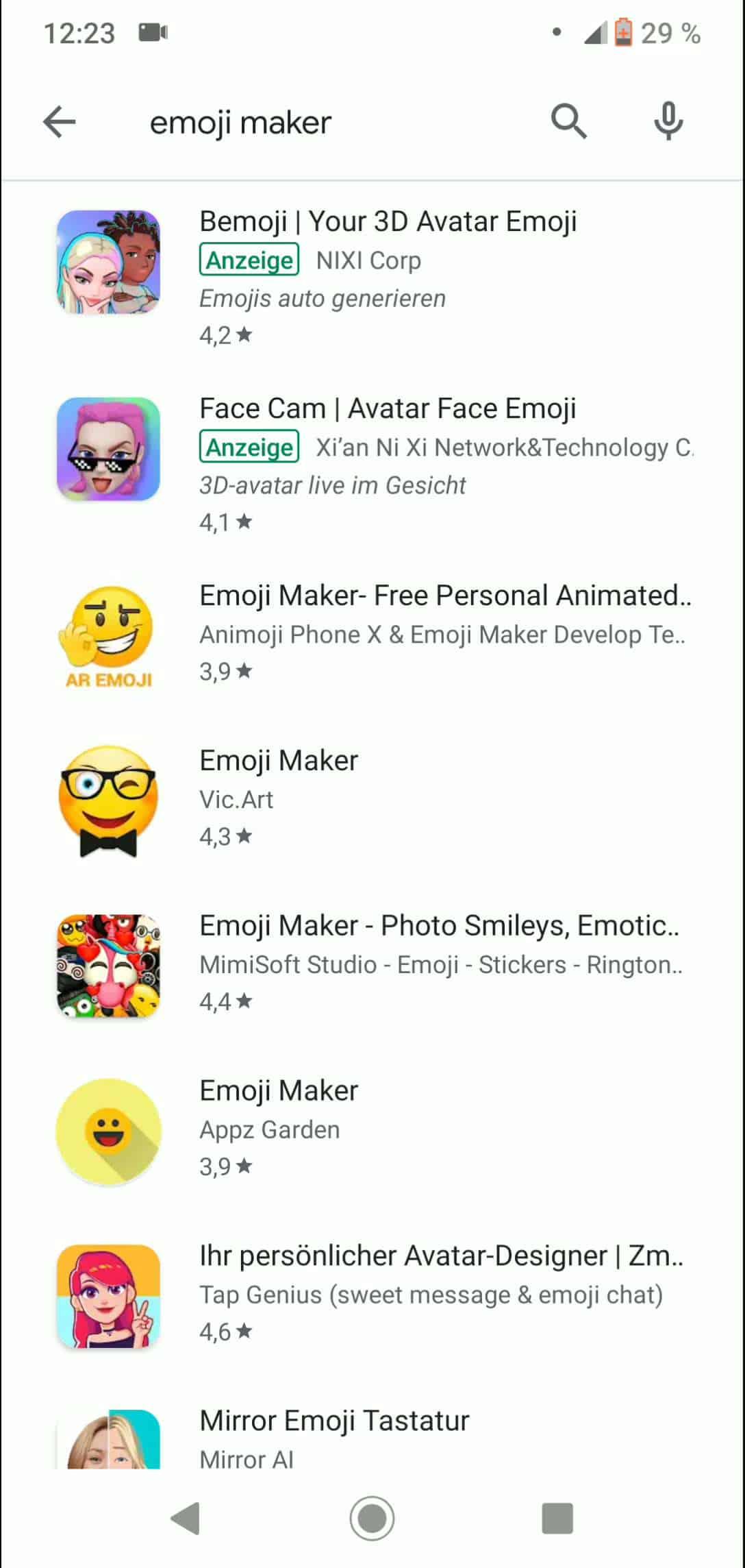 Schritt 2: Wähle eine App und tippe sie an