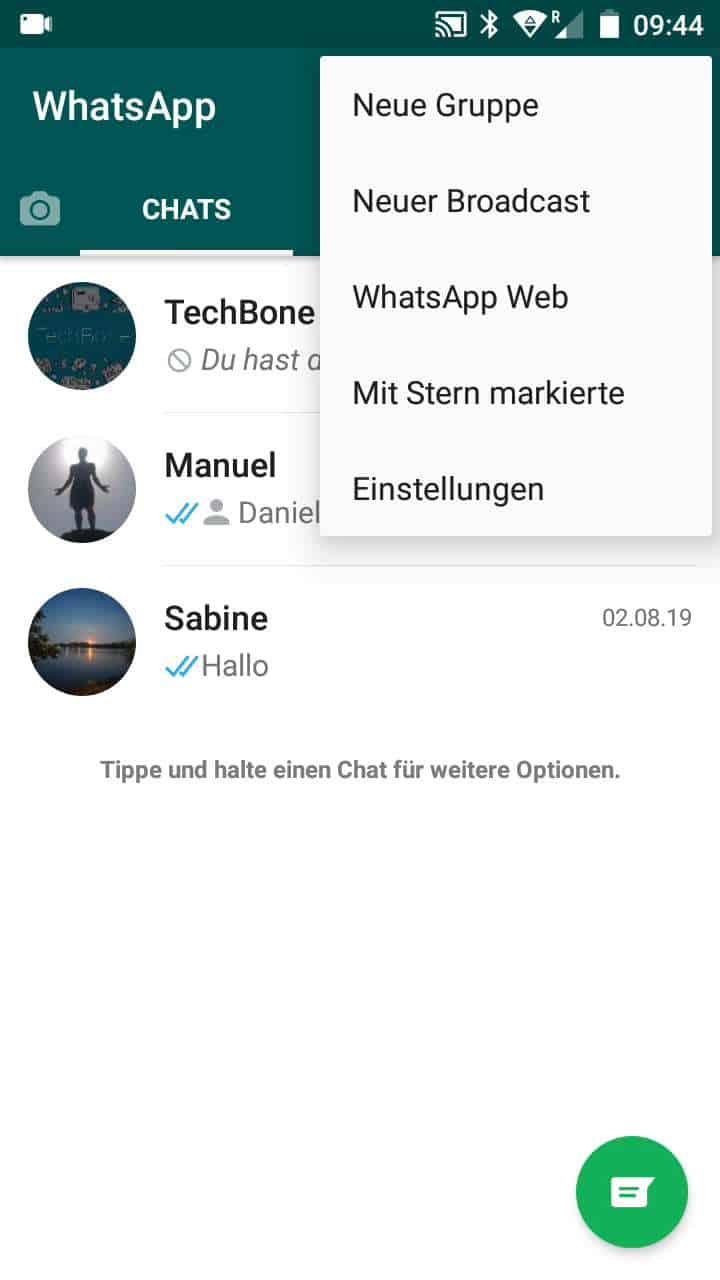 Schritt 2: Tippe auf WhatsApp Web