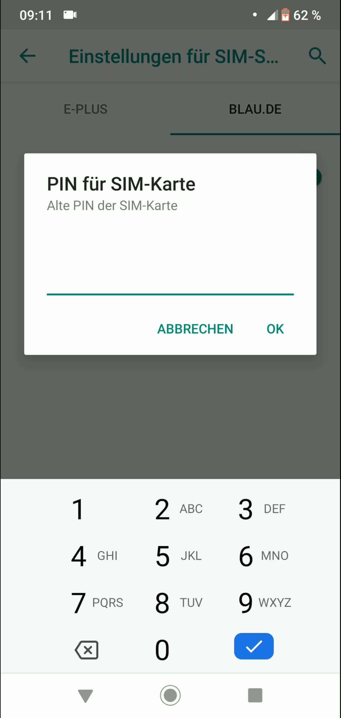 Pin Der Sim Karte ändern.Sim Pin ändern Android 9 Techbone
