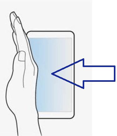 Screenshot erstellen mit einer Geste bei einem Samsung-Smartphone