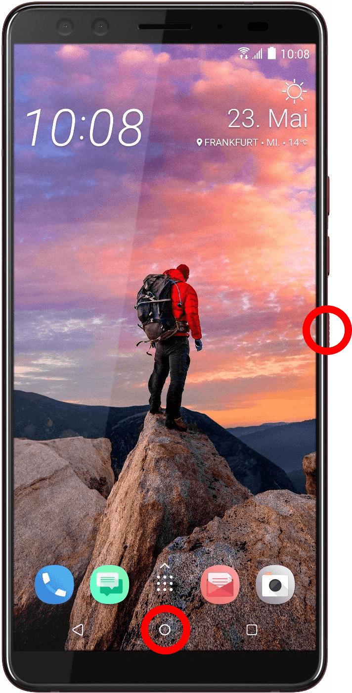 Anleitung wie man auf einem HTC-Smartphone ein Screenshot machen kann