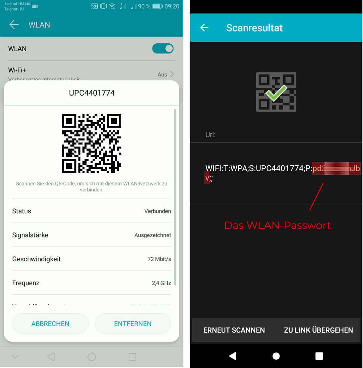 Das WLAN-Passwort unter Android ohne Root anzeigen lassen