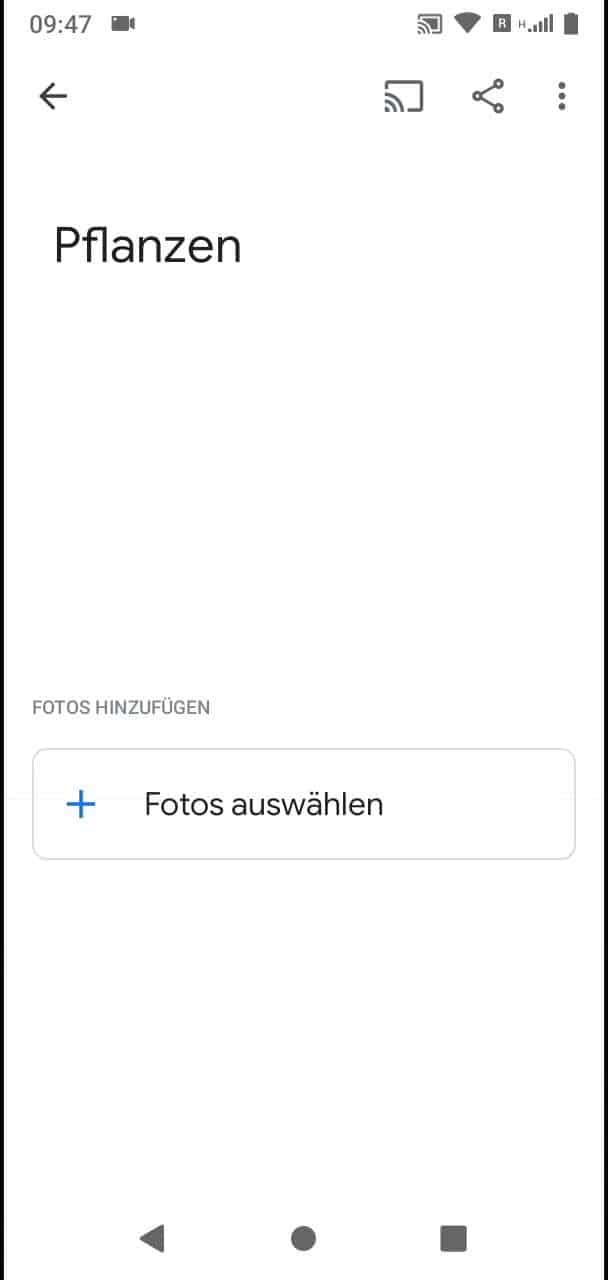 Schritt 5: Tippe auf Fotos auswählen