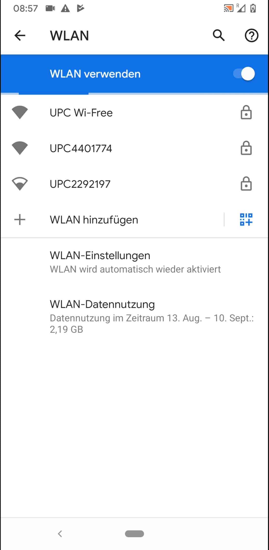 Schritt 4: Tippe auf das gewünschte WLAN-Netzwerk, mit welchem sich das Android 10-Gerät verbinden soll