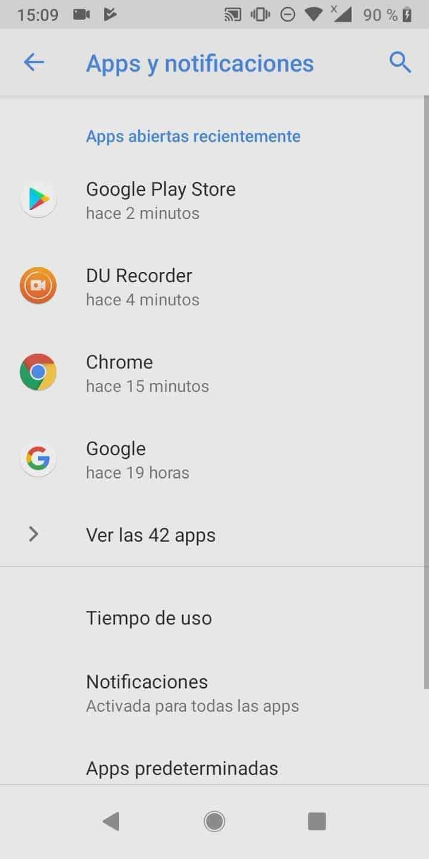 Paso 3: presiona Ver las (x) apps