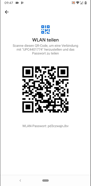Schritt 6: QR-Code scannen oder WLAN-Passwort manuell eingeben