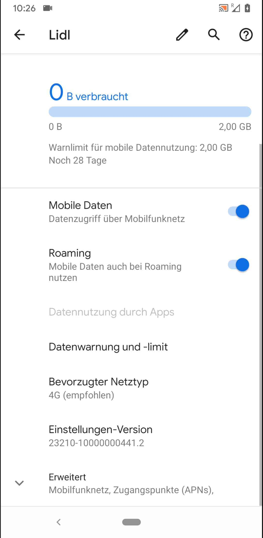 Schritt 4: Aktiviere oder deaktiviere Mobile Daten