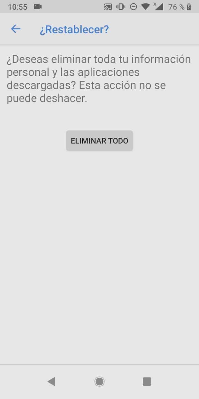 Paso 7: presiona ELIMINAR TODO