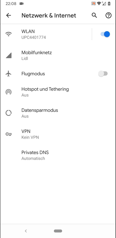 Schritt 4: Tippe auf VPN