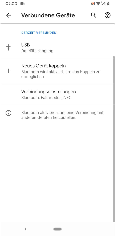 Schritt 3: Tippe auf Neues Gerät koppeln (sofern Bluetooth noch nicht aktiviert, geschieht dies nun automatisch)
