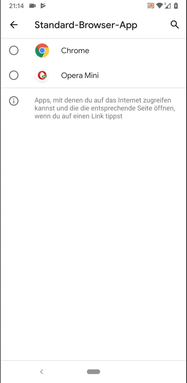 Schritt 5: Wähle den gewünschten Standard-Browser