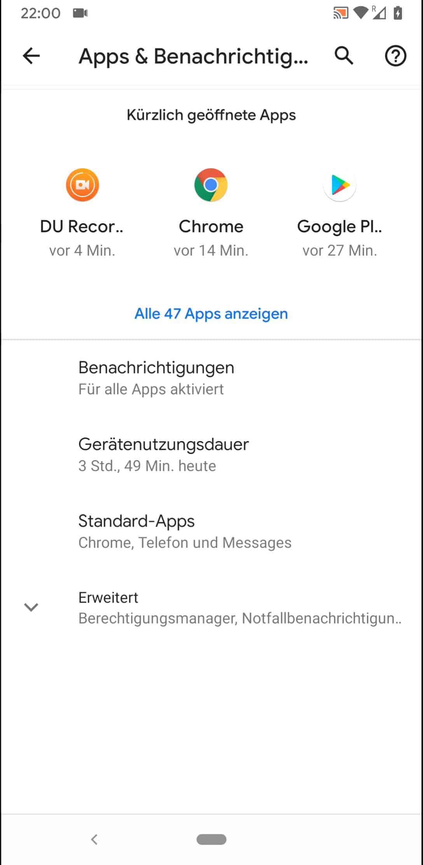 Schritt 3: Tippe auf Alle XX Apps anzeigen