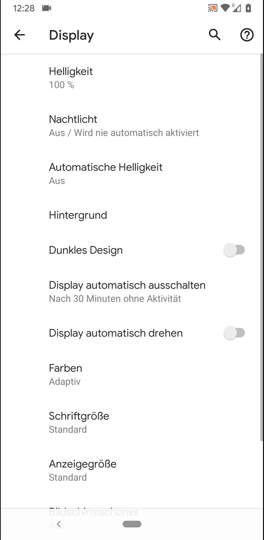 Schritt 4: Aktiviere oder deaktiviere Display automatisch drehen