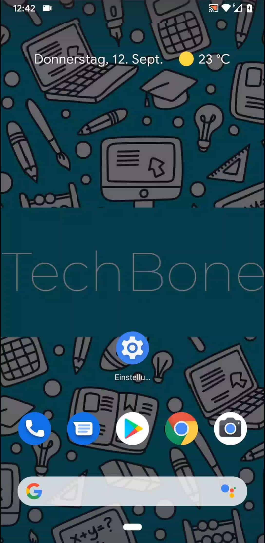 Schritt 1: Öffne eine gewünschte App/Einstellung etc.