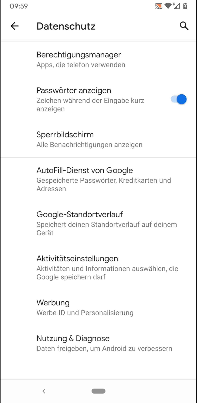 Schritt 4: Tippe auf Google-Standortverlauf