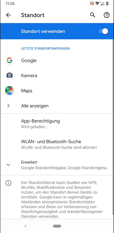 Schritt 3: Tippe auf WLAN- und Bluetooth-Suche