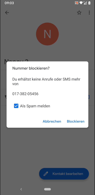 Schritt 6: Bestätige mit Blockieren