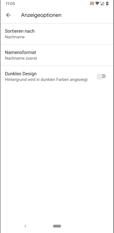 Schritt 5: Aktiviere oder deaktiviere Dunkles Design
