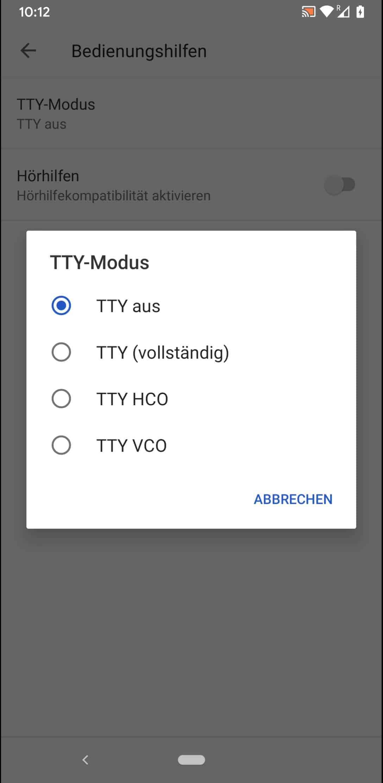 Schritt 6: Wähle einen TTY-Modus