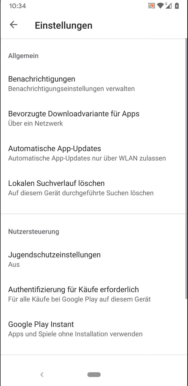 Schritt 4: Tippe auf Automatische App-Updates