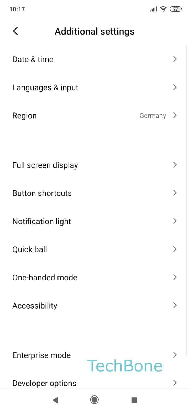 Step 3: Tap on Button shortcuts