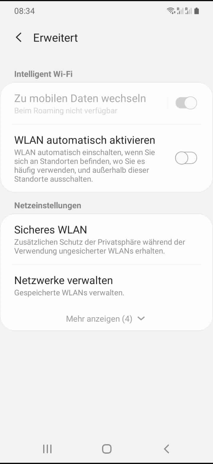Schritt 5: Aktiviere oder deaktiviere WLAN automatisch aktivieren