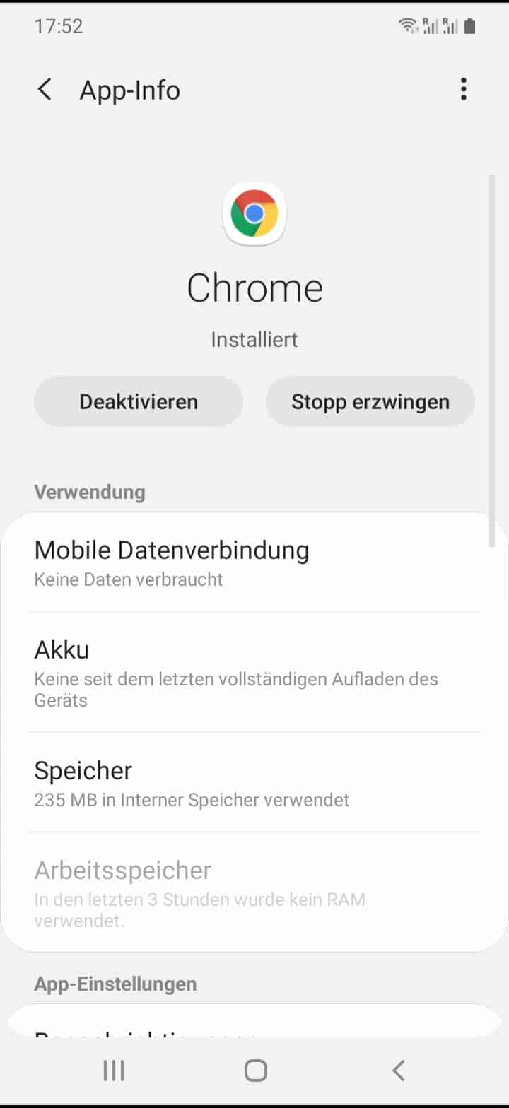 Schritt 4: Tippe auf Mobile Datenverbindung